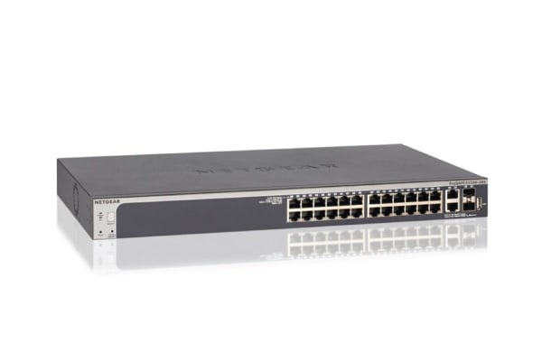 Netgear S3300-28X ProSAFE 24-Port Gigabit Stackable Smart Switch with 10G Ports (GS728TX-100AJS)