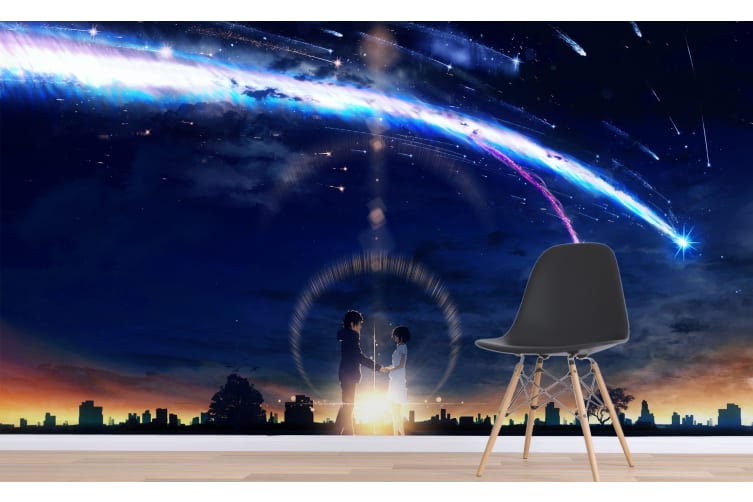 3D Your Name 071 Anime Wall Murals Woven paper (need glue), XXXL 416cm x 254cm (WxH)(164''x100'')