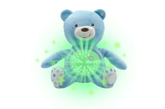 Chicco Soft Plush Baby Bear Lullaby Sound Musical Light Projector Toy 0m+ Blue