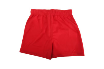 Fruit Of The Loom Childrens/Kids Moisture Wicking Performance Sport Shorts (Red) (3-4 Years)