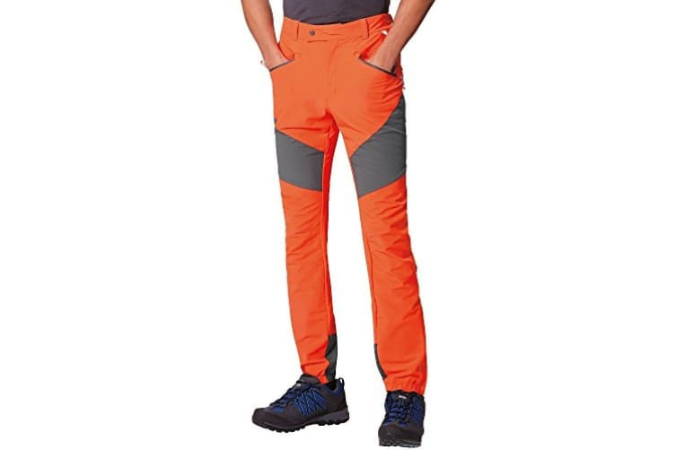 Regatta Great Outdoors Mens Mountain Active Stretch Trousers (Seal Grey/Pure Orange) (33R)