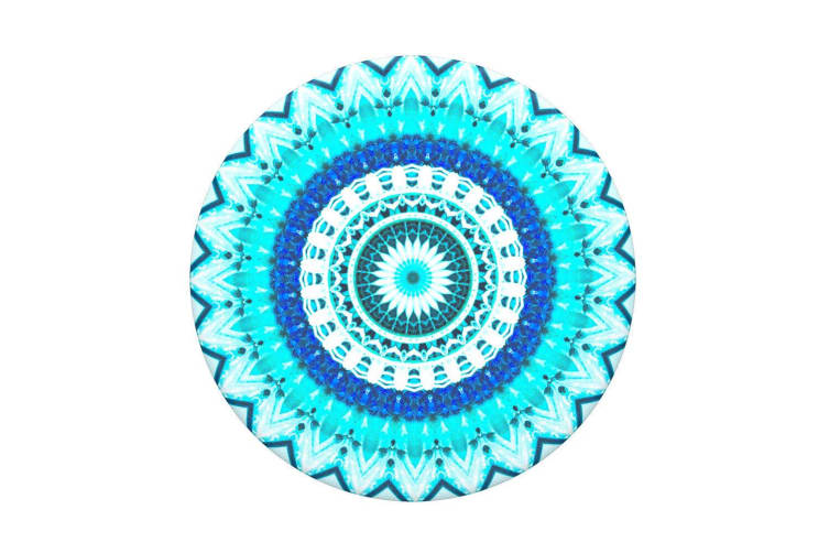PopSockets Universal Swappable Pop Grip w/ Base Blue Floral Mandala for Phones