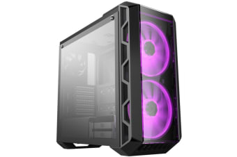 Cooler Master MasterCase H500 Iron Grey ATX MidTower Gaming Case 2X 200MM RGB Fan with Tempered