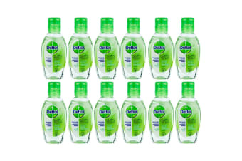 12pc Dettol 50ml Instant Hand Sanitizer Refresh Antibacterial Sanitiser Cleanser