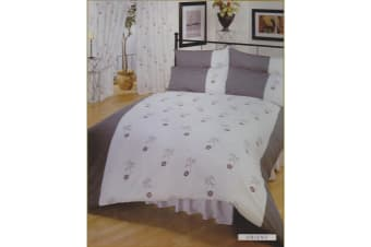 Single Orient Bumper Bedding Set Including Curtains (White/Grey) (Single Bed)