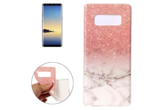 For Samsung Galaxy Note 8 Back Case Sparkly Marbled Stylish Protective Cover