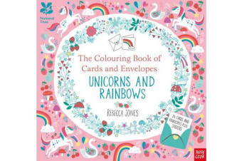 National Trust - The Colouring Book of Cards and Envelopes - Unicorns and Rainbows