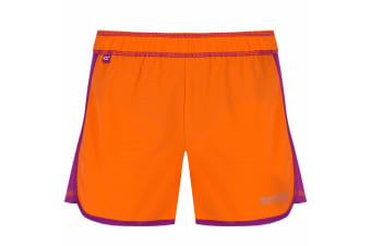 Regatta Great Outdoors Childrens/Girls Limber Quick Drying Shorts (Magma/Vivid Viola) (11-12 Years)