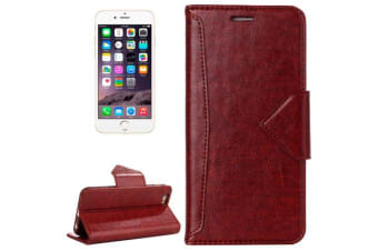 For iPhone 6S 6 Wallet Case  Top-Quality Premium Leather Cover Brown