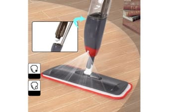 2 Mop Pads + 700Ml Spray Mop Water Spraying Floor Cleaner