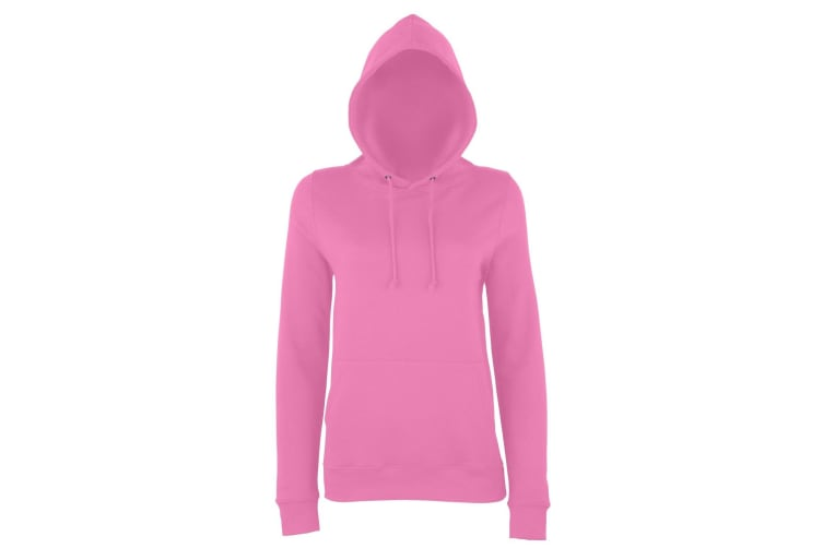 AWDis Just Hoods Womens/Ladies Girlie College Pullover Hoodie (Candyfloss Pink) (L)
