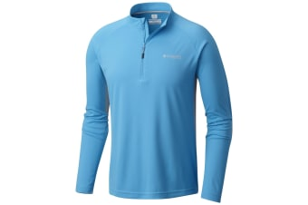 Columbia Mens Cast Away Zero II 1/4 Zip Shirt - Blue
