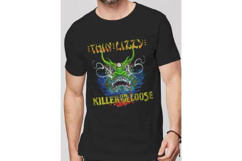Thin Lizzy Adults Unisex Adults Killer On The Loose T-Shirt (Black) (S)