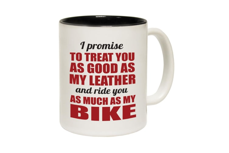 123T Funny Mugs - I Promise To Treat You - Black Coffee Cup