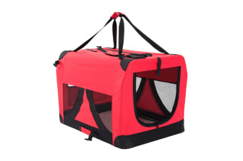 Portable Soft Dog Crate XL - RED