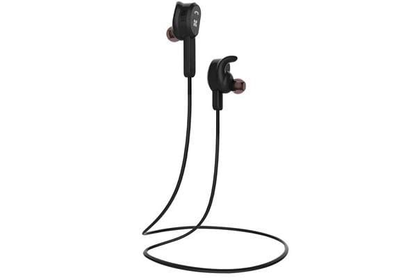 PROMATE Wireless Secure-Fit Stereo  Magnetic Eerbuds. Behind ear for perfect fit.  Black
