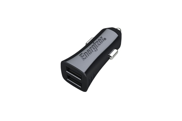 Energizer Hightech Universal 2.4A 2-Port USB Car Charger Adaptor - Black