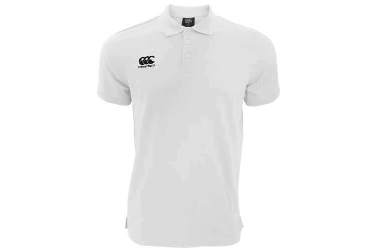 Canterbury Mens Waimak Short Sleeve Pique Polo Shirt (White) (XL)