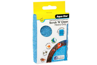 Scrub 'N' Clean Large Coarse Heavy Duty Algae Pad for Aquarium Fish Tanks by Aqua One