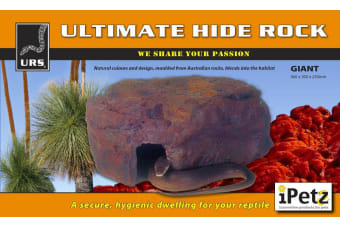 URS Reptile Giant Ultimate Hide Rock Decoration for Snakes, Lizards (56x30x25cm)