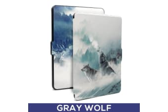 Quality Colorful Painting Leather Cover for Kindle Paperwhite 1/2/3-Wolf