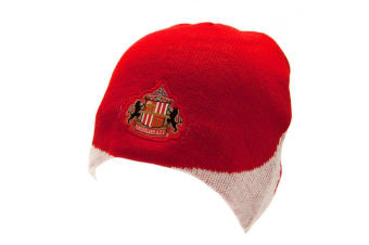 Sunderland AFC Official Adults Unisex Knitted Hat (Red/White)