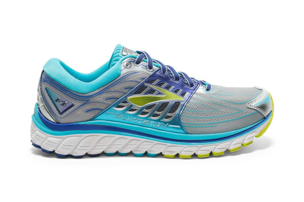 Brooks Women's Glycerin 14 (Silver/Blue Atoll/Lime, Size 9)