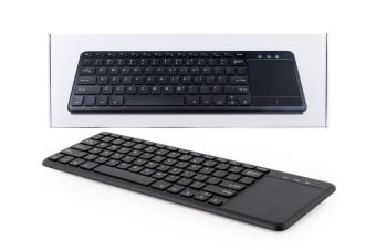 LEX 2.4GHz Wireless Remote Touchpad Keyboard for Smart TV/Computer Android Black