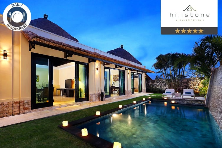 BALI: 5 Nights at Hillstone Villas Resort Private Pool Villa for Two (One Bedroom Pool Villa)