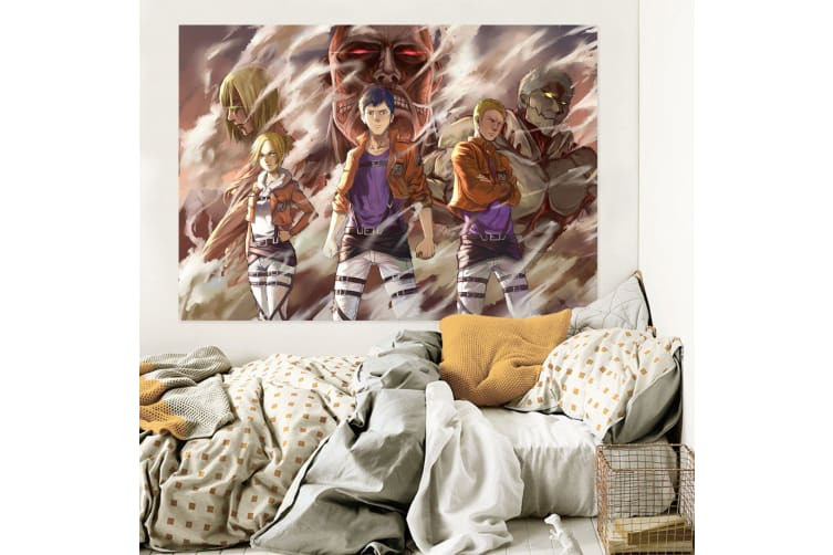 3D Attack On Titan 497 Anime Wall Stickers Self-adhesive Vinyl, 100cm x 60cm(39.3'' x 23.6'') (WxH)
