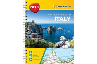 Italy - Tourist and Motoring Atlas 2019 (A4-Spirale) - Tourist & Motoring Atlas A4 spiral