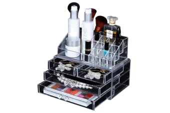 4/5/6 Drawers Cosmetic Jewellery Rack Makeup Organiser Box Case Holder Clear AU  -  6 Drawer B6 Drawer B