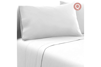 Giselle Bedding 1000TC Bed Sheet Set Flat Fitted Microfiber Sheet Set Queen
