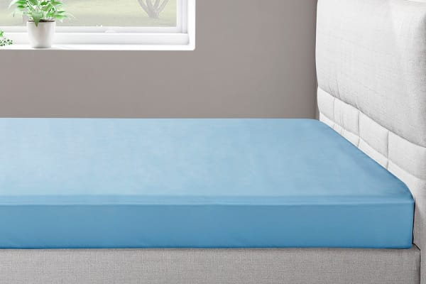 Ovela 400TC 100%  Bamboo Fitted Sheet (Double, Powder Blue)