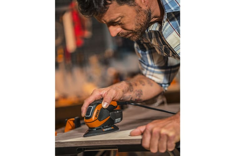 WORX 65W D-TAIL Palm Sander with Carry Bag (WX648)