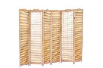 3/4/6/8 Panel Privacy Room Divider Office Partition Fold Stand Wood Shutter