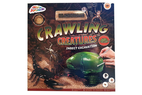Grafix Dig N Discover Crawling Creatures Excavation Kit