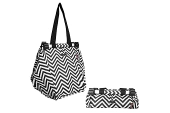 Sachi Shopping Reusable Grocery Hand Cooler Bag for Cart Trolley Chevron Stripe