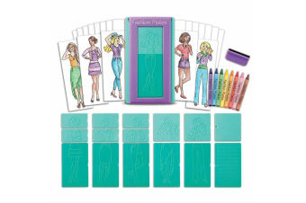 Fashion Plates Design Kids/Children Girls 6y+ Drawing Craft/Art Set Designer Kit