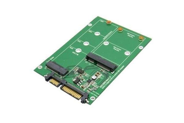 Generic M.2 NGFF SSD and Msata SSD  to SATA 3 dual port Convertor Card adapter