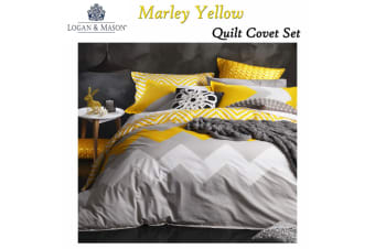 Marley Yellow Quilt Cover Set KING by Logan and Mason