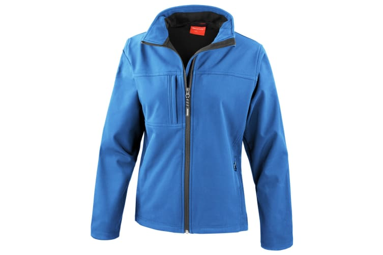 Result Womens Softshell Premium 3 Layer Performance Jacket (Waterproof  Windproof & Breathable) (Azure Blue) (M)