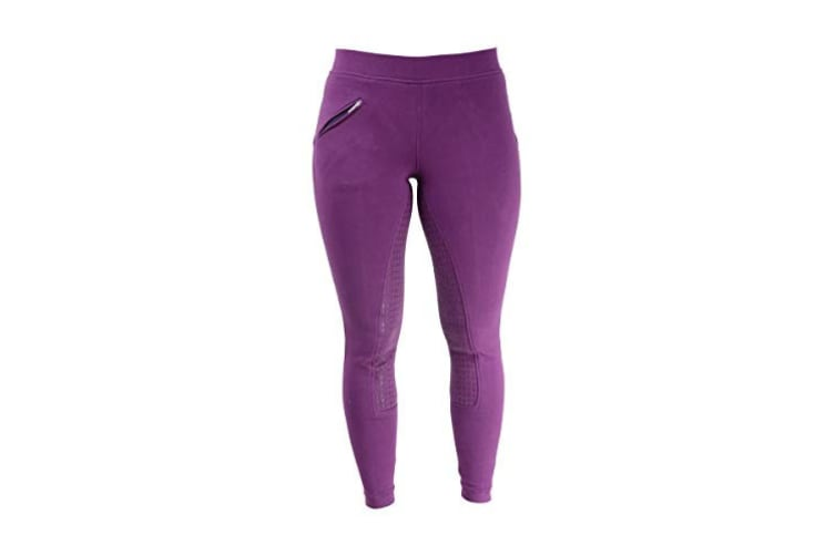 HyPERFORMANCE Womens/Ladies Hickstead Silicon Leggings (Purple) (32in)