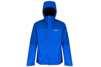 Regatta Great Outdoors Mens Cross Penine III Waterproof Hybrid Jacket (Oxford Blue/Surfspray)
