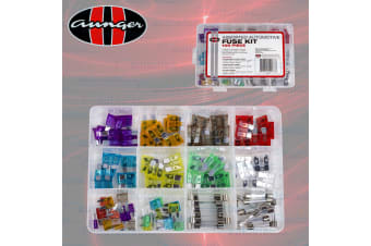 100 FUSE KIT ASSORTMENT STANDARD & MINI BLADE FUSES GLASS AUTO CAR 3-30 AMP NEW