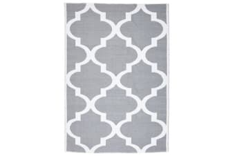 Coastal Indoor Out door Rug Trellis Grey White 220x150cm