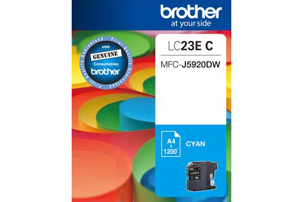***Brother LC23EC CYAN INK CARTRIDGE TO SUIT MFC-J5920DW - UP TO 2400 PAGES***AYS Partner Exclusive***