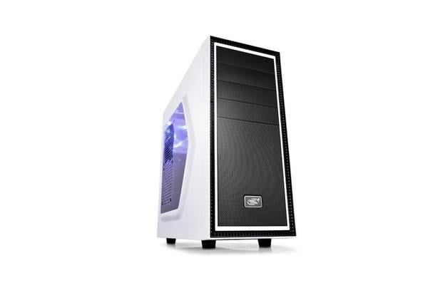 DEEPCOOL Deepcool Tesseract SW Mid Tower Case Side Window Includes 1 Blue 120mm LED Fan