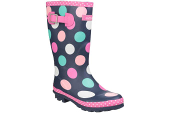 Cotswold Childrens Girls Dotty Spotted Wellington Boots (Multicoloured) (10 UK Child)