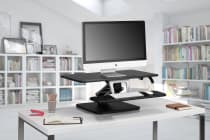 Kogan Sit to Stand Desk Riser (Medium, Black)
